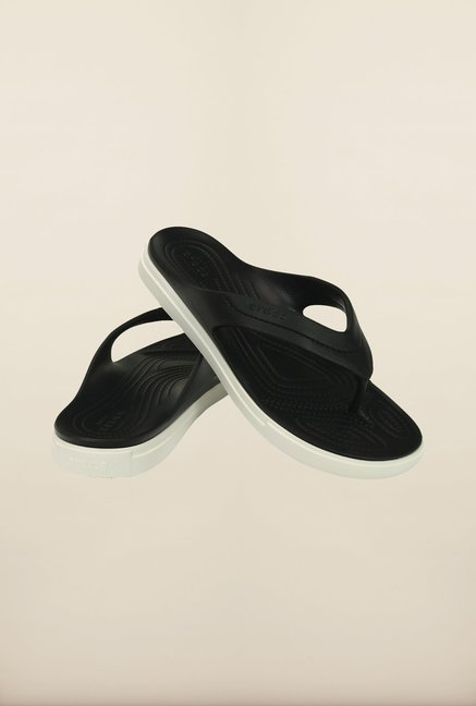 Crocs CitiLane Black & White Flip Flops