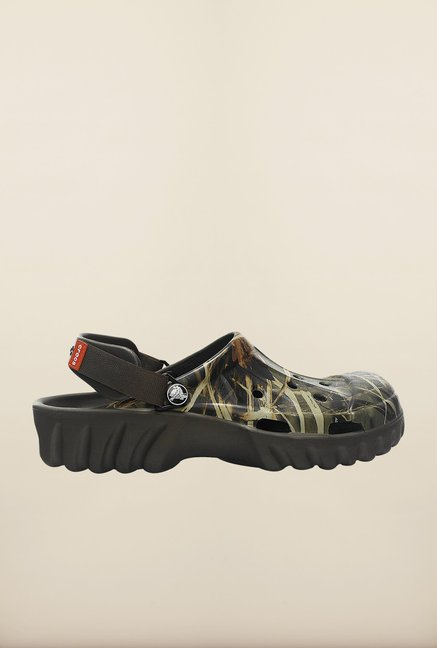 Crocs Off Road Realtree Green & Chocolate Clogs