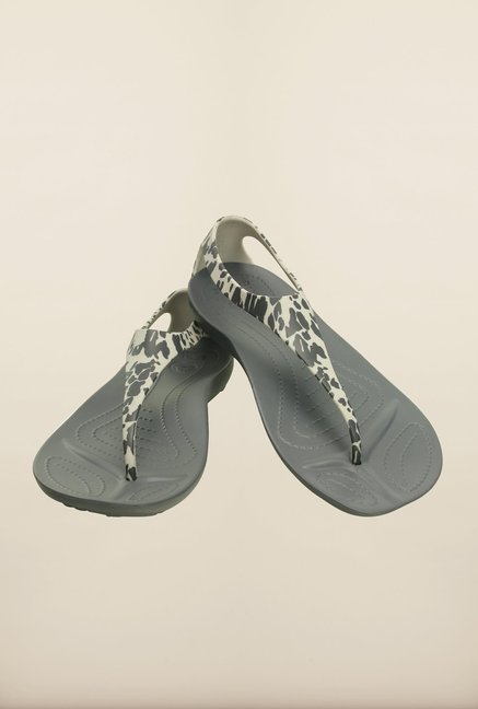 Crocs Sexi Charcoal Grey Slippers