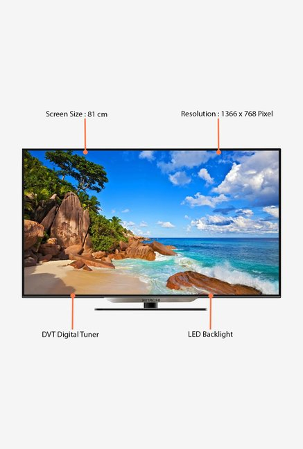 Buy Hitachi LE32VZD01AI 81 Cm (32 Inch) HD Ready TV (Black) Online