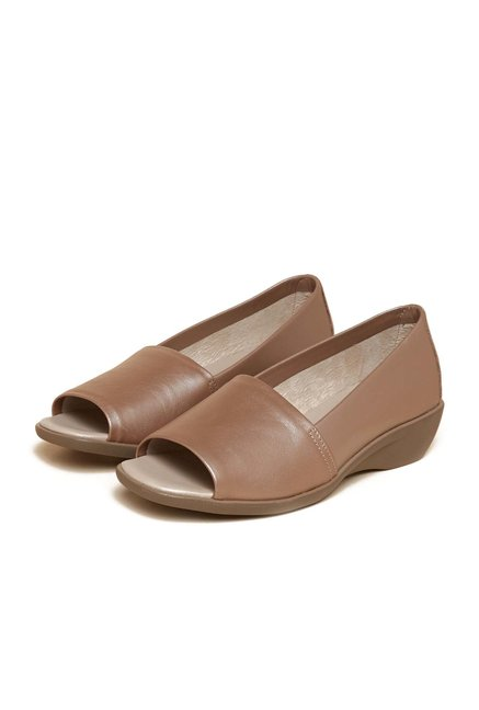 Aerosoles Brown Mule Leather Sandals