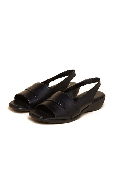 Aerosoles Black Back Strap Leather Sandals