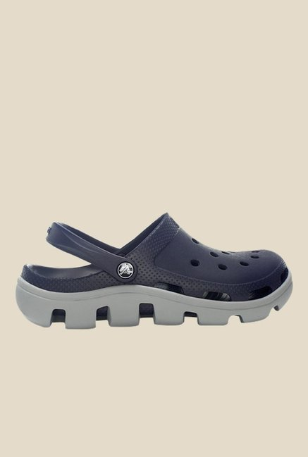 Crocs Duet Sport Navy & Light Grey Clogs