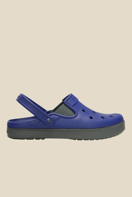 Crocs CitiLane Cerulean Blue & Grey Clogs