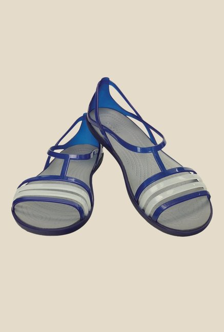Crocs Isabella Cerulean Blue Slide Sandals