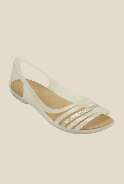 2c5f95ec9844 Buy Crocs Isabella Huarache Oyster Slide Sandals Online at best price at  TataCLiQ