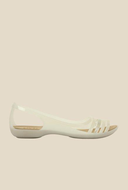 4ff619f5e141 Buy Crocs Isabella Huarache Oyster Slide Sandals Online at best ...
