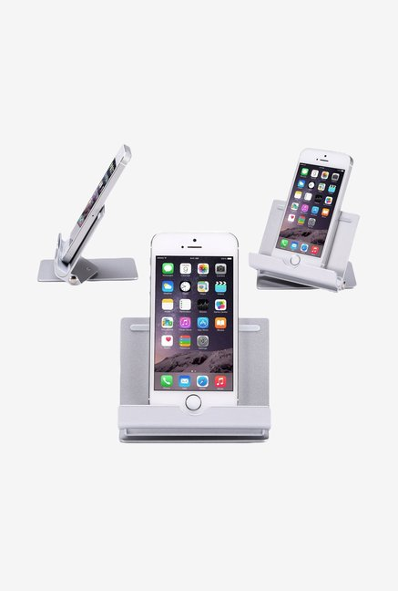 MoKo Multiangle Foldup Rubber Tablet Stand (Silver)