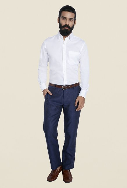Raymond White Regular Fit Shirt
