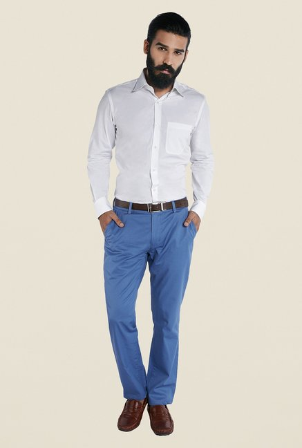Raymond White Regular Fit Solid Shirt
