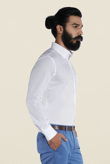 Raymond White Cotton Shirt