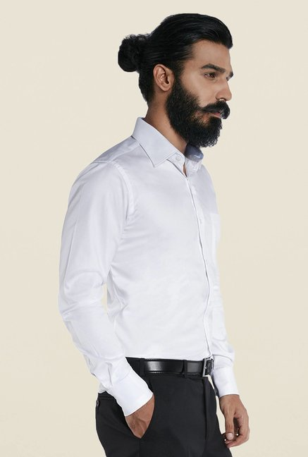 Raymond White Regular Full Sleeve Shirt