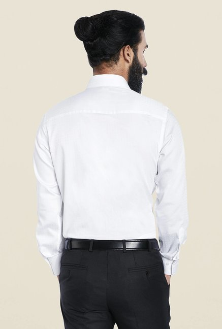 Raymond White Solid Formal Shirt