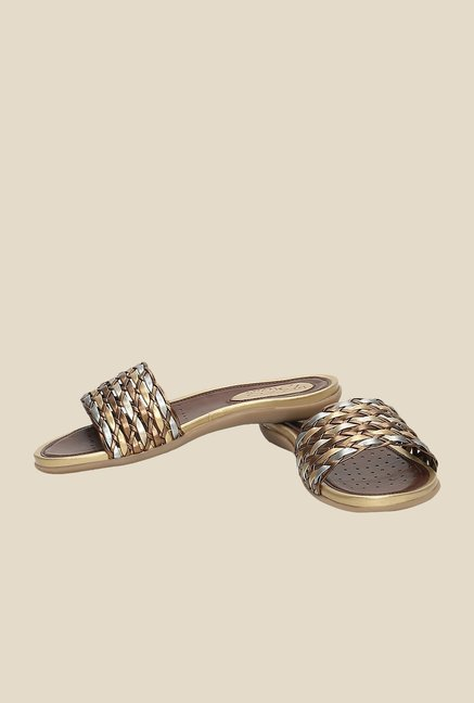 La Briza Copper & Gold Casual Sandals