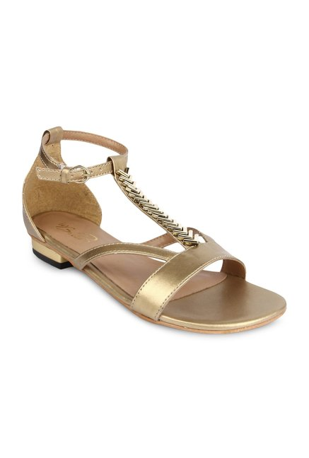 La Briza Gold Ankle Strap Sandals