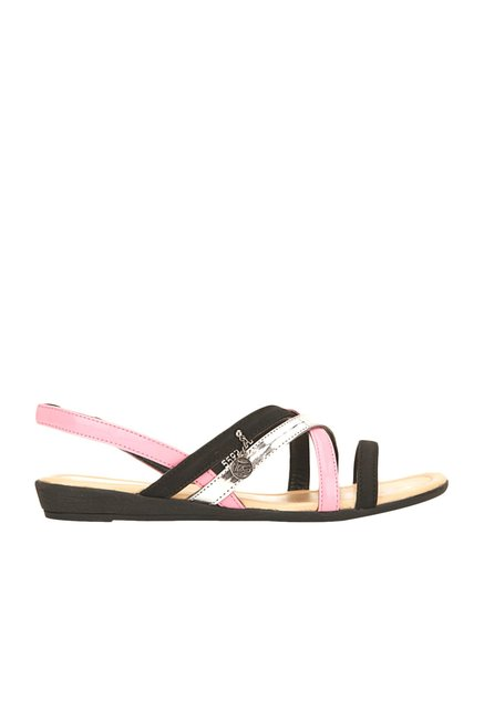 La Briza Black Sling Back Sandals