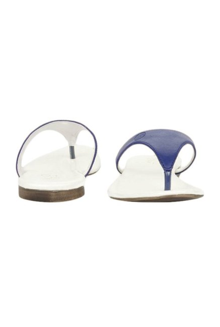 La Briza Royal Blue & White Thong Sandals