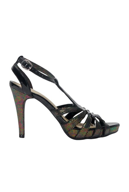 La Briza Black Ankle Strap Sandals
