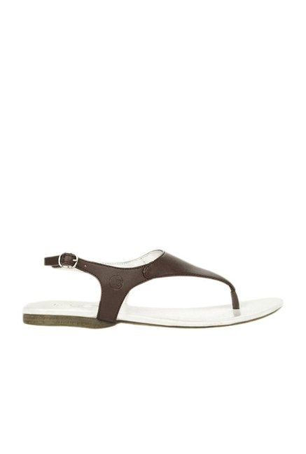 La Briza Brown Back Strap Sandals