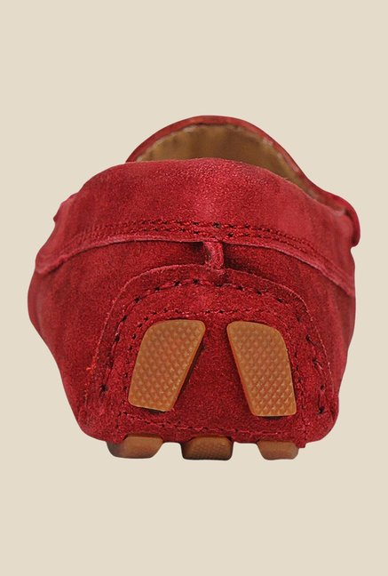 La Briza Red Casual Loafers