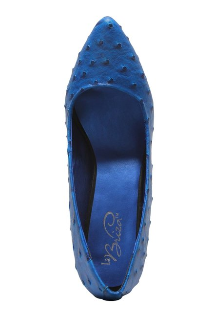 La Briza Blue Stiletto Heeled Pumps