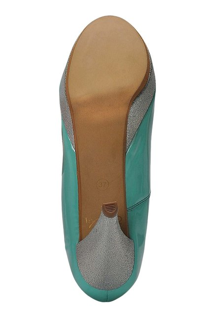 La Briza Green Peeptoe Shoes