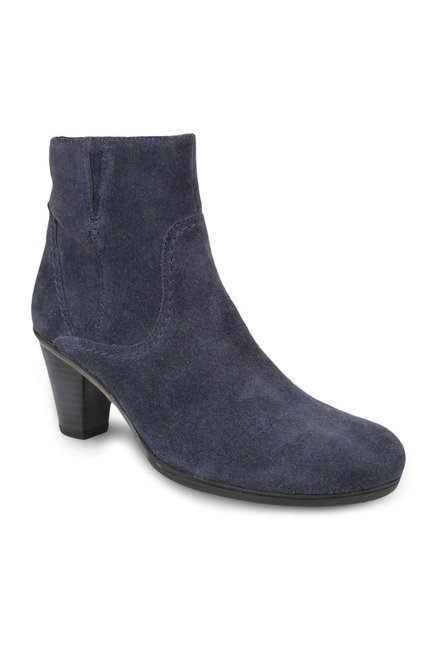 La Briza Purple Block Heeled Booties