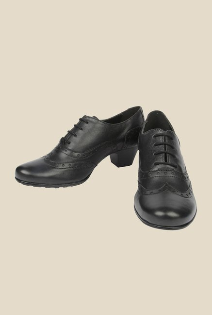 La Briza Black Oxford Shoes