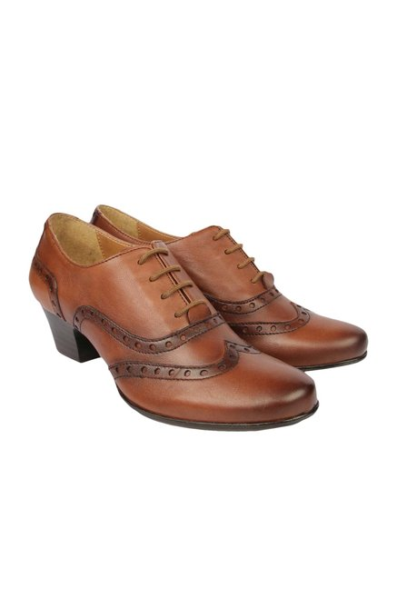 La Briza Cognac Oxford Shoes
