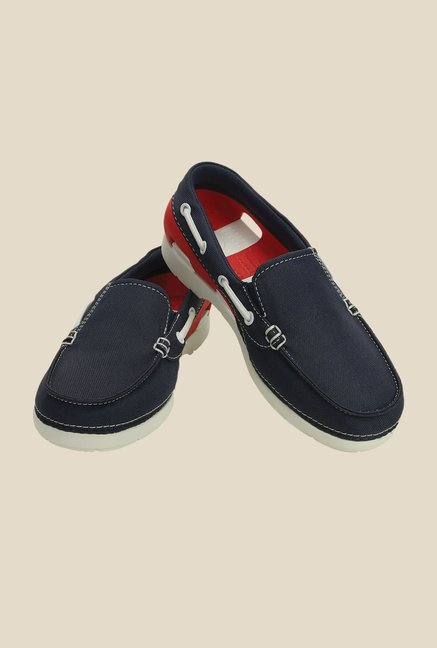 Crocs Beach Line Hybrid GS Navy & Red Casual Shoes