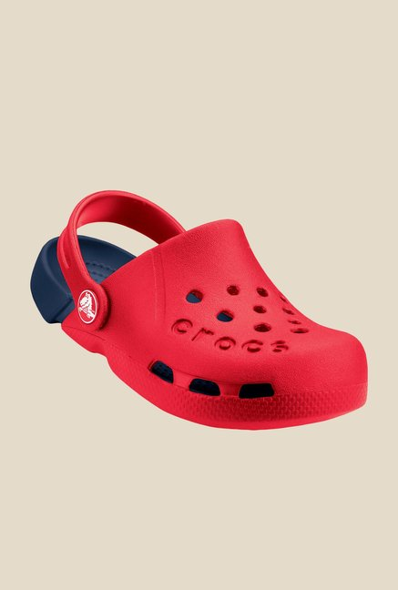 Crocs Electro Red & Navy Clogs