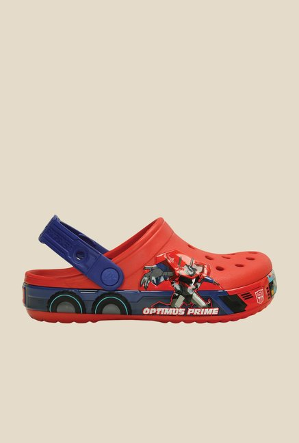 Crocs CB Transformers Optimus Prime Flame & Blue Clogs