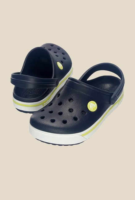 Crocs Crocband II.5 Navy & Citrus Clogs
