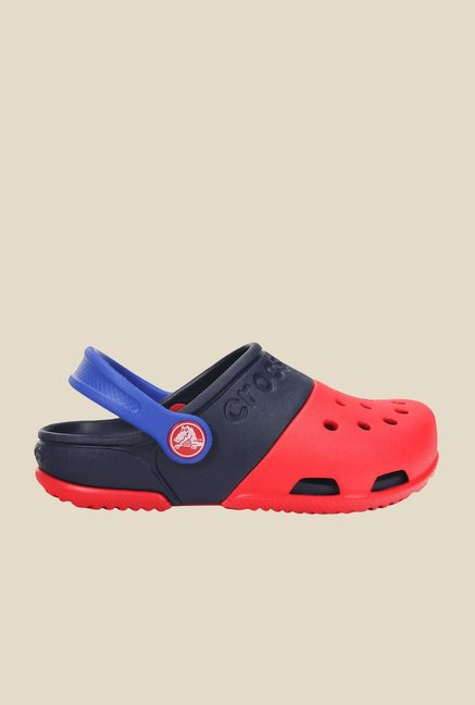 Crocs Electro II Red and Navy Clogs