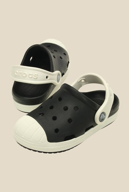 Crocs Bump It Black and Oyster Clogs