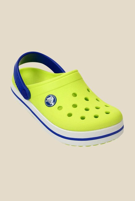 Crocs Crocband Citrus & Sea Blue Clogs