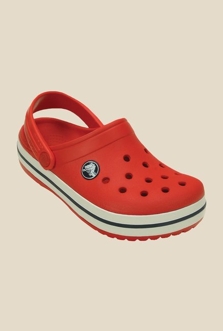 Crocs Crocband Flame and White Clogs