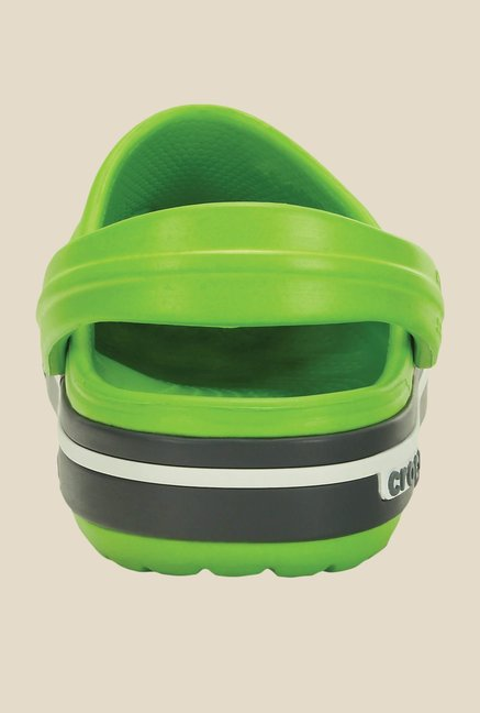 Crocs Crocband II.5 Volt Green and Grey Clogs