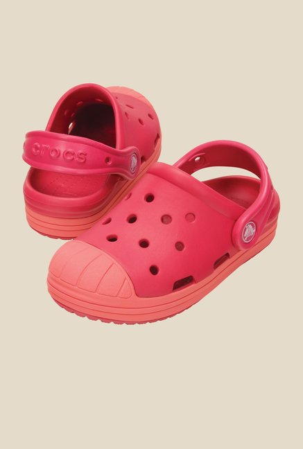 Crocs Bump It Raspberry Clogs