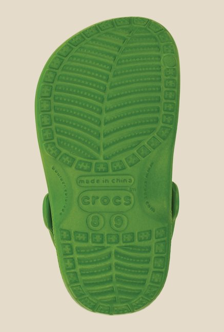 Crocs Classic Parrot Green Clogs