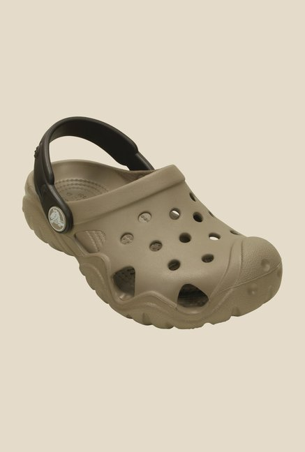 Crocs Swiftwater Mushroom & Espresso Clogs