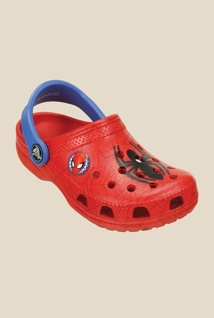 Crocs Classic Spiderman Red & Blue Clogs