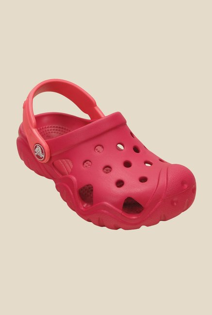 Crocs Swiftwater Raspberry & Coral Clogs