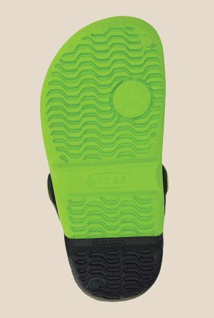 Crocs Electro Volt Green and Navy Clogs