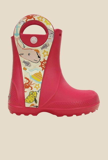 Crocs Handle It Sea Life Raspberry Casual Boots