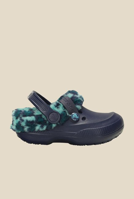 Crocs Blitzen II Nautical Navy & Pool Clogs