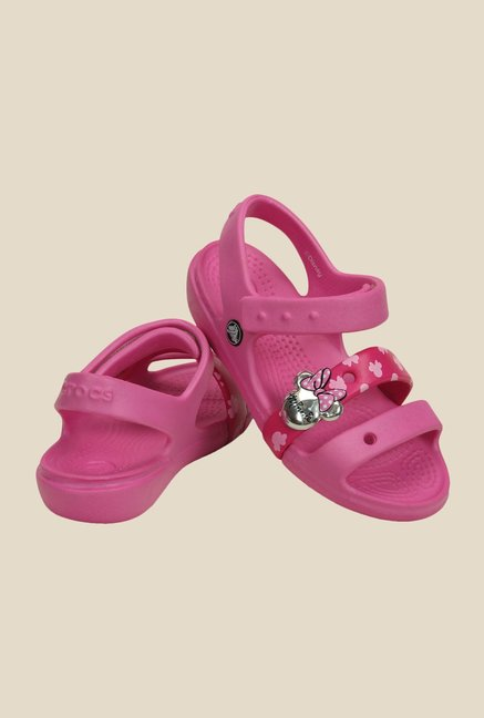 Crocs Keeley Disney Minnie Party Pink Floater Sandals