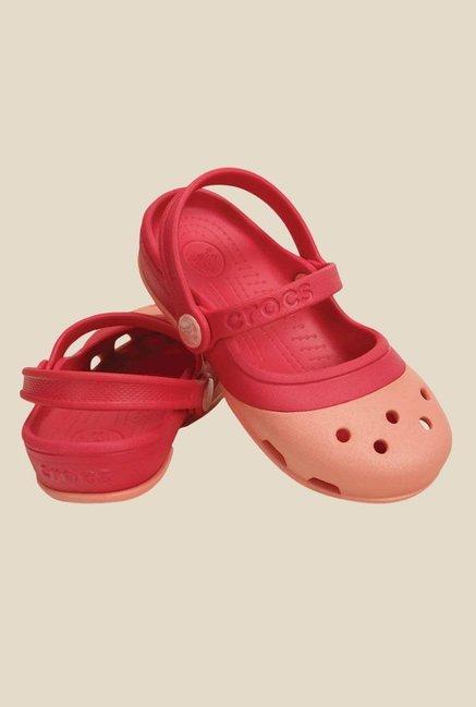 ea9695587a28 Buy Crocs Kids Electro II MJ PS Melon   Poppy Sling Back Sandals for ...