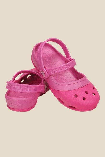 Crocs Electro II MJ PS Neon Magenta Sling Back Sandals