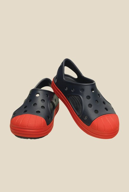 Crocs Bump It Navy & Flame Sling Back Sandals